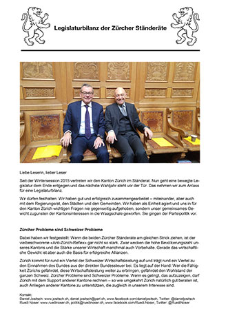 Newsletter Legislaturbilanz